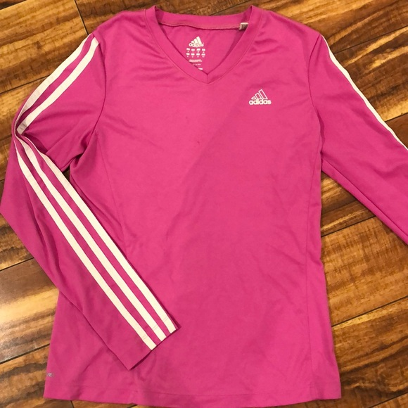 classic shoes 100% top quality more photos adidas Tops   Pink Workout Top   Poshmark